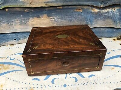 antique campaign Writting Slope Box Brass