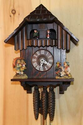 Genuine German Black Forest Musical Chalet Cuckoo Clock ~ Hummel Style ~
