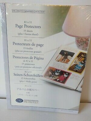 Creative Memories Page Protectors  8 1/2 x 11 Scrap booking 16 Pages 2004 Sealed