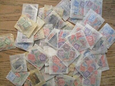Box o Lot British & Crown colonies stamps in packets many dups unchecked
