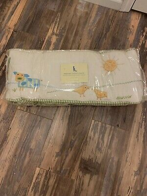Pottery Barn Kids Farmyard Friends Bumper Pad Rare EUC
