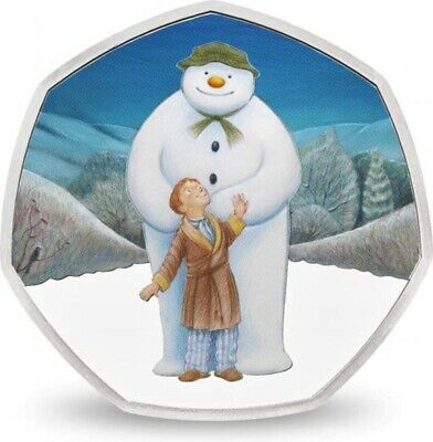 BRAND NEW THE SNOWMAN AND JAMES 2019 UK 50p Silver Proof Coin RARE LOW MINTAGE 5