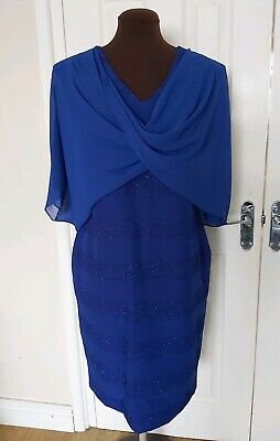 Lizabella Formal Mother Of The Bride Royal Blue Dress Size 14 with Bolero
