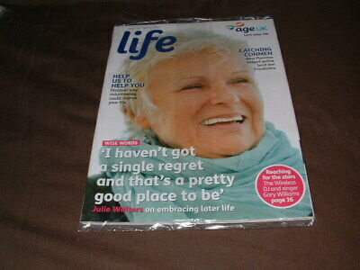 age uk life spring  2017 issue 16 julie walters (new sealed)