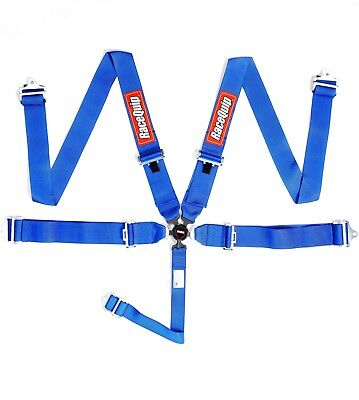 Racequip New, Dated Sfi Jun2021 Blue 5-Pt Pd Camlock Sfi 16.1 Racing Seat Belts