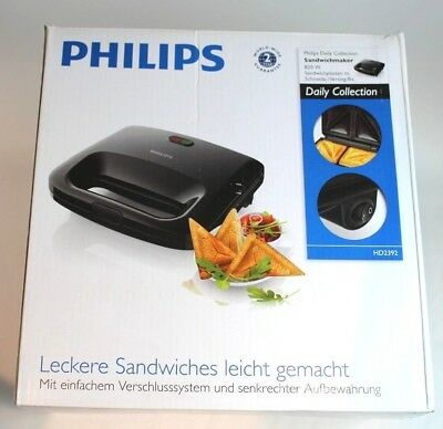 Tostapane tramezzini sandwich piastra Philips HD2392 Daily Collection 820W.