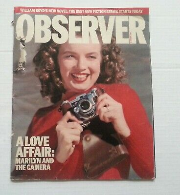 OBSERVER MAGAZINE 2 August 1987 - MARILYN MONROE etc
