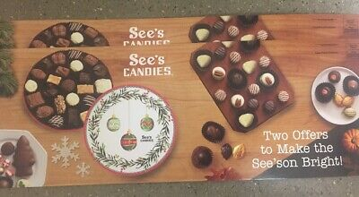 See's Candies 2* $5 off. Valid at See's stores Thanksgivings Christmas
