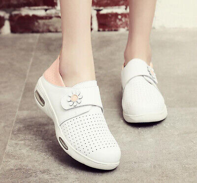 Womens Flats Leather Casual Hospital Footware Work Skidproof Nursing Shoes Warm
