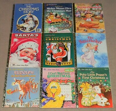 A Little Golden Book CHRISTMAS Lot 9 Hardcover Winter Picture Books Some Vintage