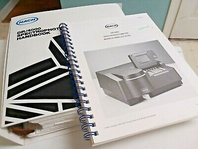 Hach Handbook and User Manual For DR/4000 Spectrophotometer 48000 & 48100