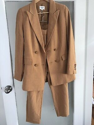 SEED HERITAGE matching Set Blazer And Trousers Caramel Size 6