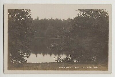 POSTCARD - Birmingham, Sutton Coldfield, Sutton Park, Bracebridge Pool, RP