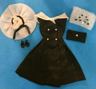 Vintage Barbie  After Five Dress & Hat In Mint Condition!   Free Extras!