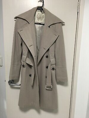 Forever New Sz8 Stone Wool Blend Coat
