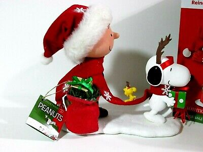 Woodstock Dept 56 Peanuts Clothtique Lot ~GIFT GIVING /& LITERARY ACE~ Snoopy