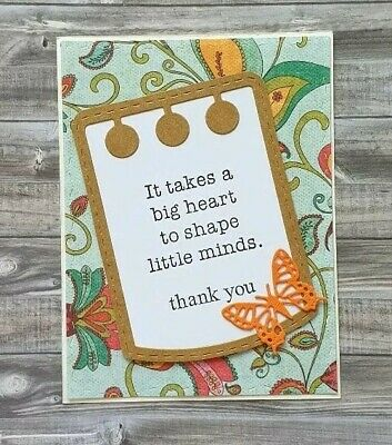 Handmade Teacher Card Thank You Teacher Shaping Little Hearts From Parent School