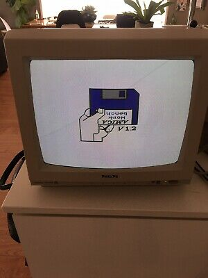 Philips CM8833 1084S SCART Monitor for use with Commodore Amiga 500 NES SEGA RGB