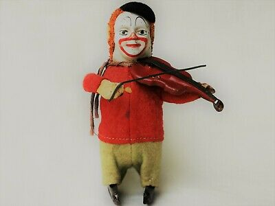 Schuco Clown with Violin Tin Toy Dance Figure
