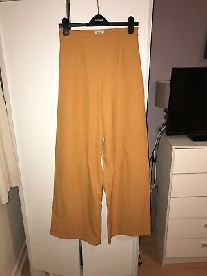 Orange Wide Leg High Waisted Trousers From Oh Polly Size 12