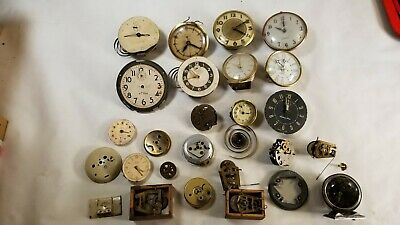 Lot of Antique Clock Wheels, Gears, Shafts, Faces & Misc Steampunk Artwork #2