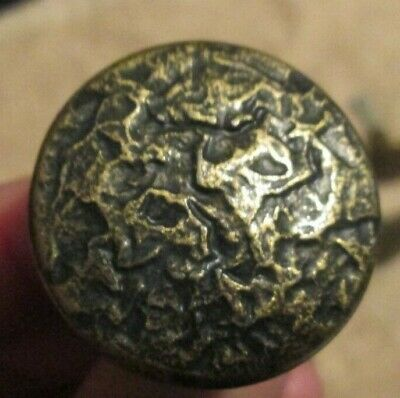 14 Vintage Brass Drawer Pulls w screws hammered brass round
