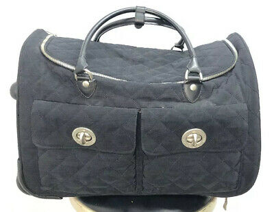 """Baggallini Rolling Carry-On Duffle Bag Wheeled Luggage Black 20"""""""