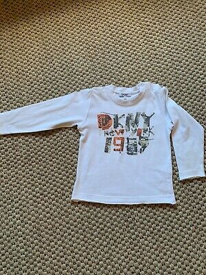DKNY Toddler Boy's Long Sleeve T-Shirt White Size 3