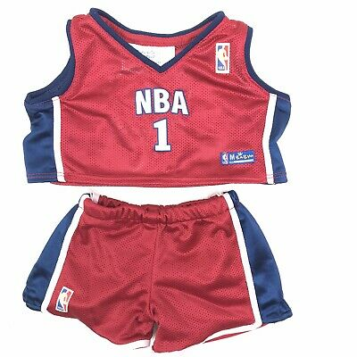 Build A Bear Red And Blue NBA Basketball Uniform Outfit