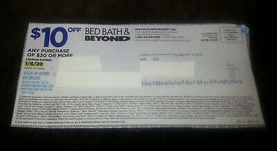 Bed Bath & Beyond Coupon - $10 Off $30+ Purchase Online & In-Store Exp. 1-6-20