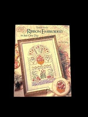 Learn to Do RIBBON EMBROIDERY in Just One Day - Iron On Transfers Pattern Book