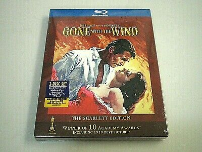 """New & Sealed! GONE WITH THE WIND """"Scarlett Special Edition"""" [BLU-RAY 3 Disc Set]"""