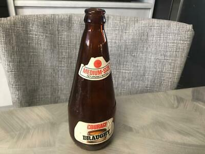 OLD VINTAGE AUSTRALIAN 500 ml COURAGE DRAUGHT BEER BOTTLE LABEL HOME BAR MANCAVE