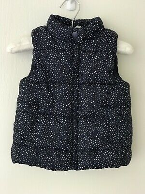 Cotton On Navy Sleeveless Puffer