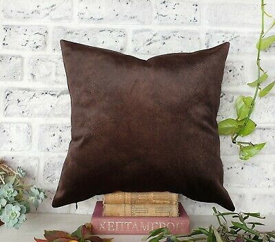 Dark brown color thick velvet-baby face super soft fabric pillow cover-1QTY