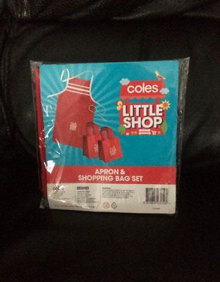 Coles Little Shop Mini Collectables <-()->1St Edition New Apron & Shopping Bags