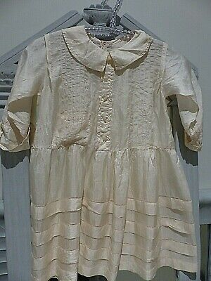 ANTIQUE 1920's ENGLISH SILK CHILDS DRESS