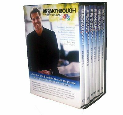 BREAKTHROUGH With Tony Robbins - 6 DVD Set (Episodes 1-6) Motivational - NEW
