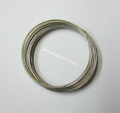 200 x Silver Tone Memory Beading Wire Loops 40mm 45mm diameter 0.6mm Thick S200