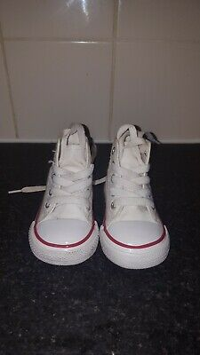 Baby Boy Girl Converse Size 3 hightop white BN without box