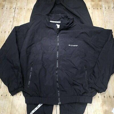 Converse Black Tracksuit Top And Bottom Matching Set Size Large