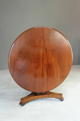 Antique Victorian Mahogany Tilt Top Breakfast Dining Centre Table
