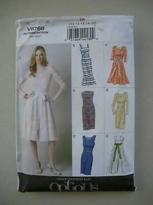UNCUT Vogue Sewing Pattern 8766 - Womens Misses Dresses - Sizes 12-20