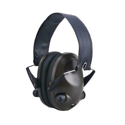 BLACK Electronic Noise Reduction Earmuffs Input Jack Ear Muffs Shooting Hunting