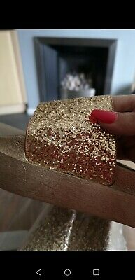 Ladies Gold Sequin sliders size 5