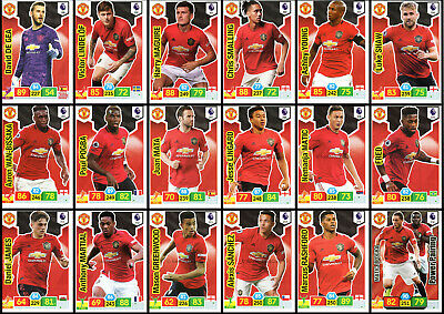 Panini Adrenalyn XL Premier League 2019/20 Manchester United base power cards