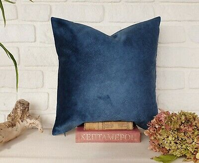 Teal blue color thick velvet-baby face super soft fabric pillow cover-1QTY