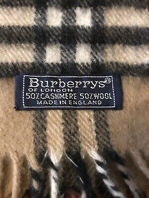 Vintage Burberry Cashmere/Wool Scarf