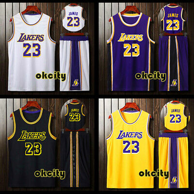 Los Angeles Lakers #23 LeBron James LBJ Men Youth Child Kid Jersey Shorts Pants