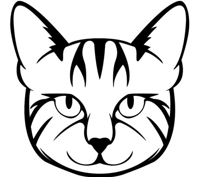 CAT FACE HUGE 12X11.5 wall decal sticker for home window door decor car laptop